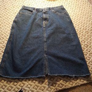 Eddie Bauer denim a line skirt,  size 12